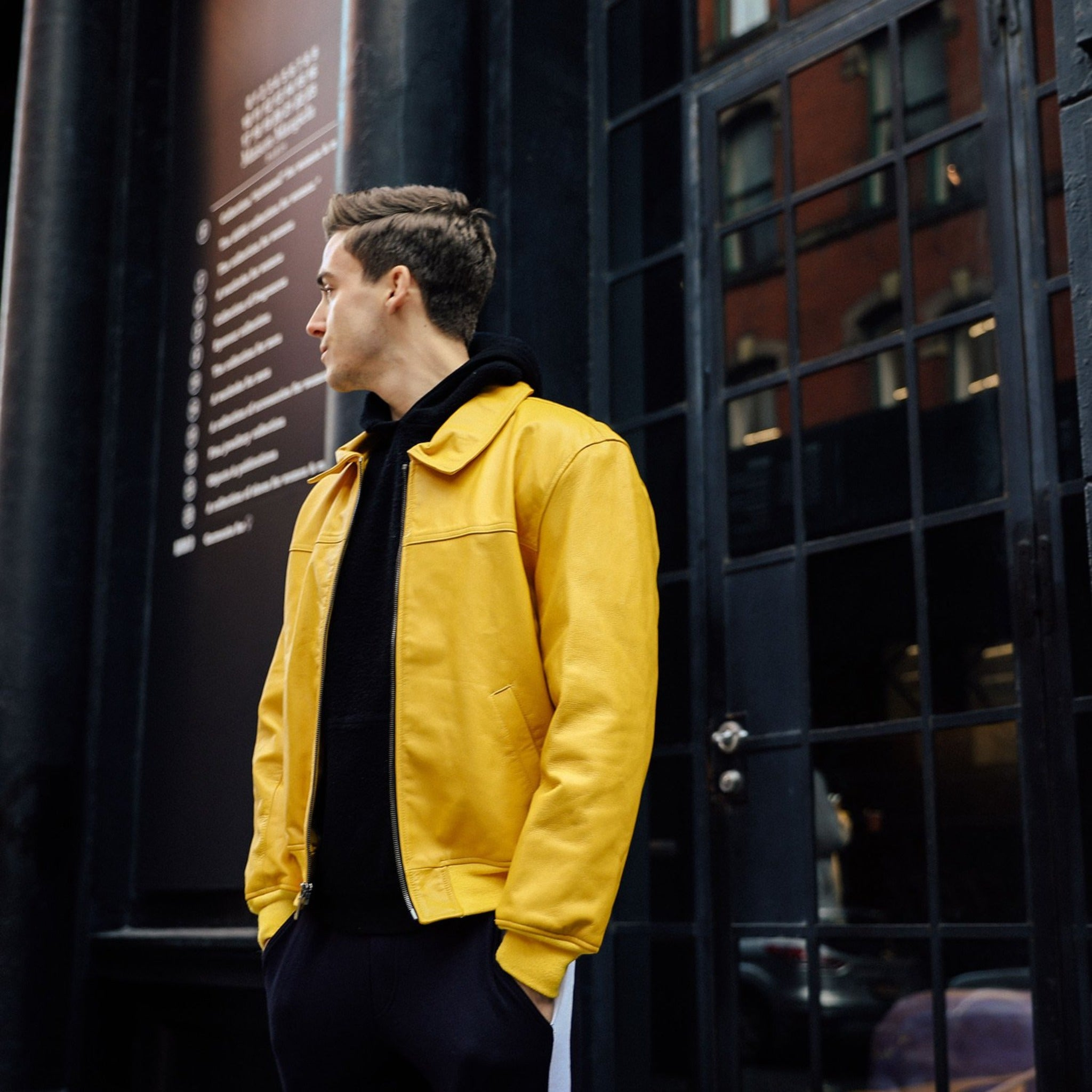 Bomber Jacket in Yellow