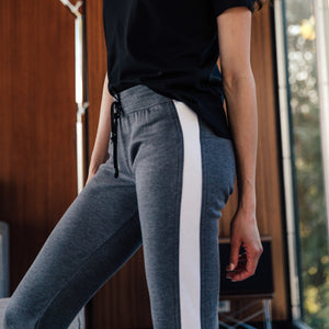 Zinc Joggers in Charcoal-White - Mitchell Evan