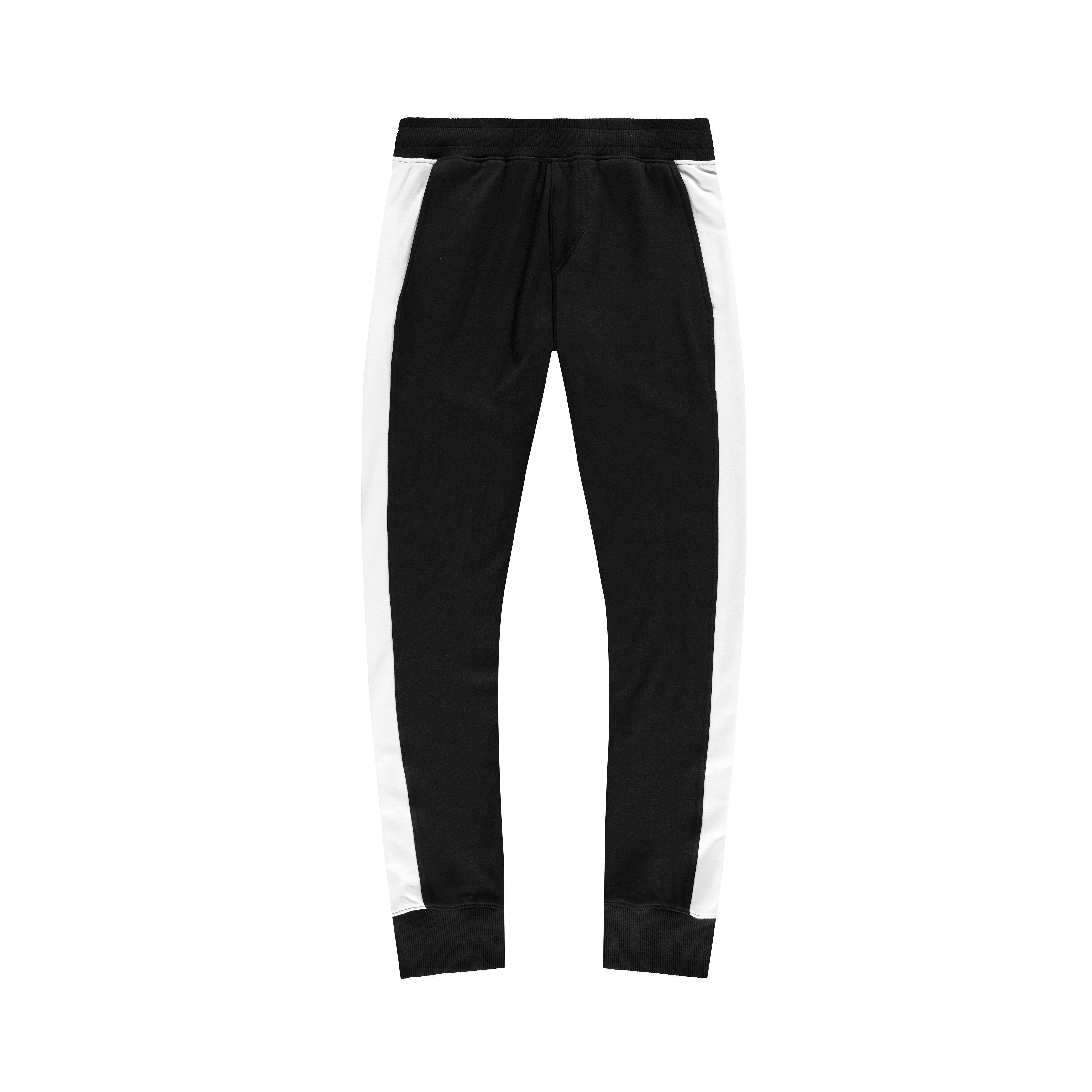 Panel Joggers in Black-White - Mitchell Evan