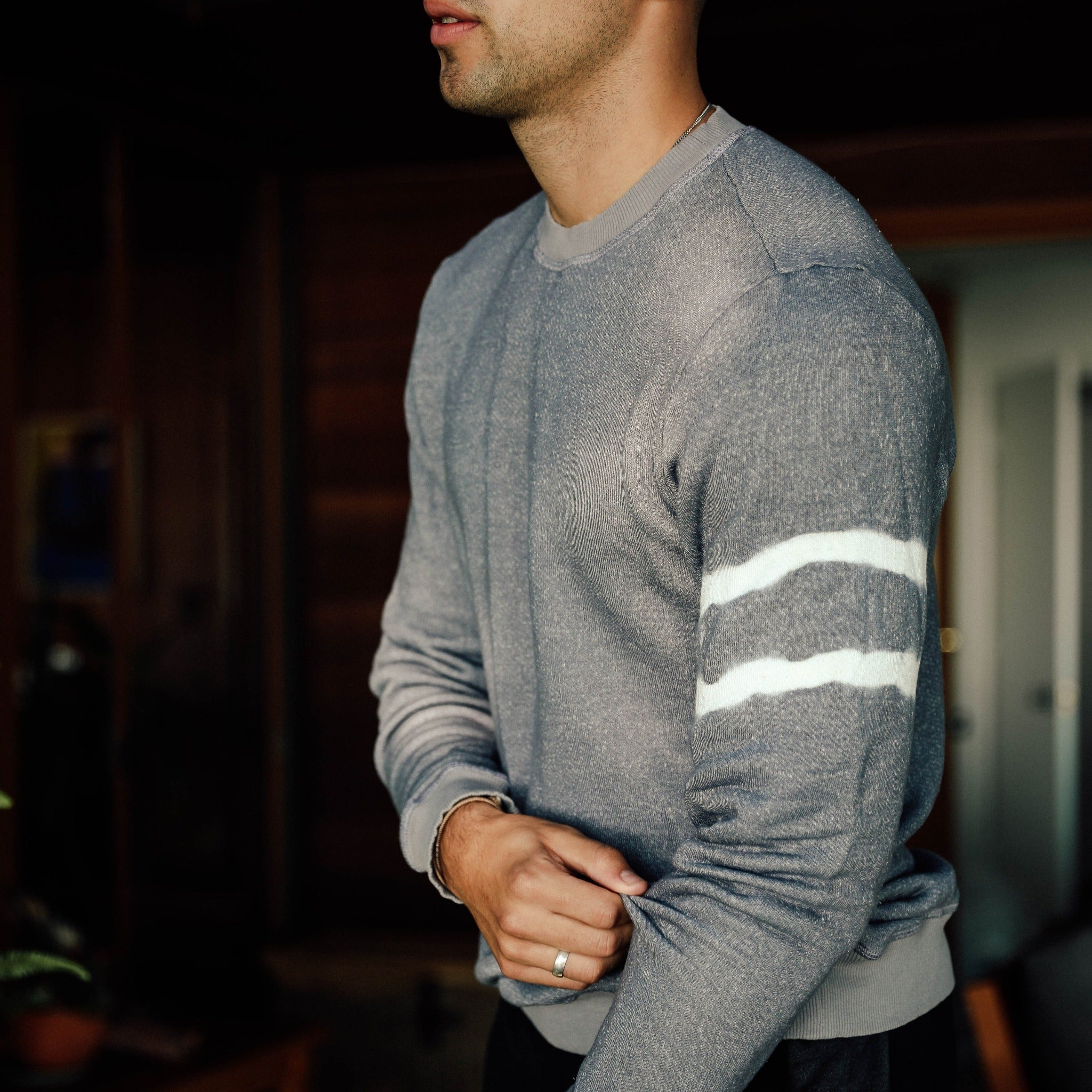 Crewneck Sweatshirt in Grey A.D. - Mitchell Evan