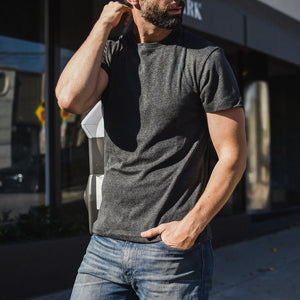 Taz T-Shirt in Bamboo Charcoal - Mitchell Evan
