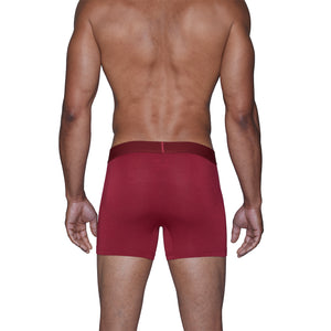 Wood Boxer Brief in Burgundy