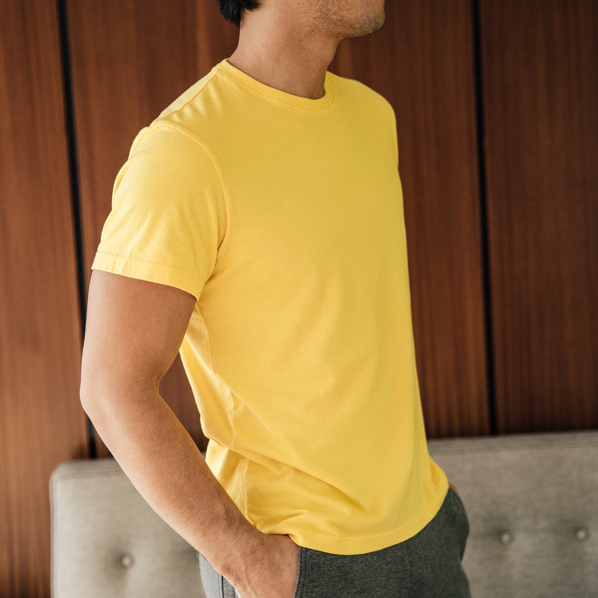 Taz T-Shirt in Aspen Yellow - Mitchell Evan