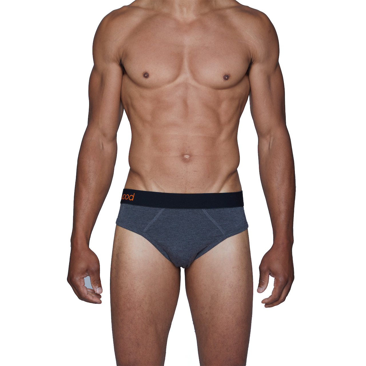 Wood Hip Brief in Charcoal Heather