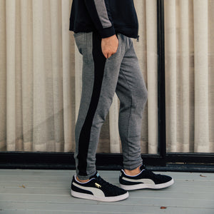 Steel Panel Joggers in Charcoal-Black - Mitchell Evan