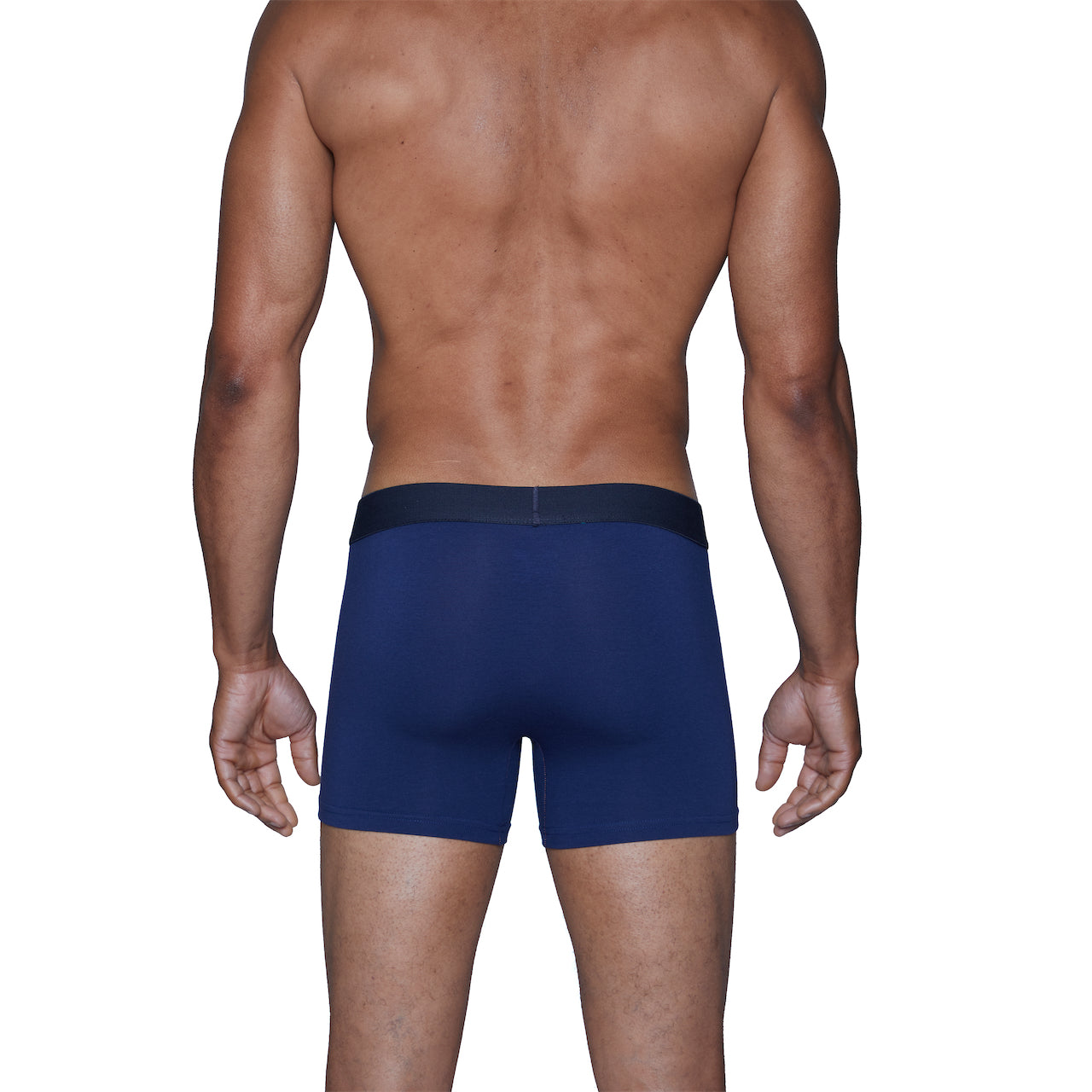 Wood Boxer Brief in Deep Space Blue