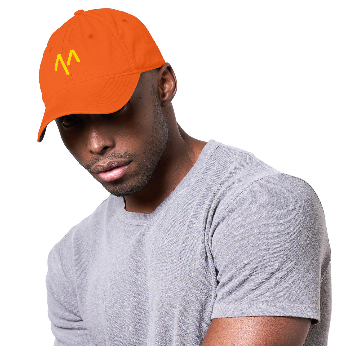 Dad Hat in Neon Orange