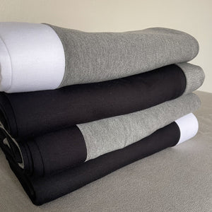 Winston Border Throw in Grey-Black