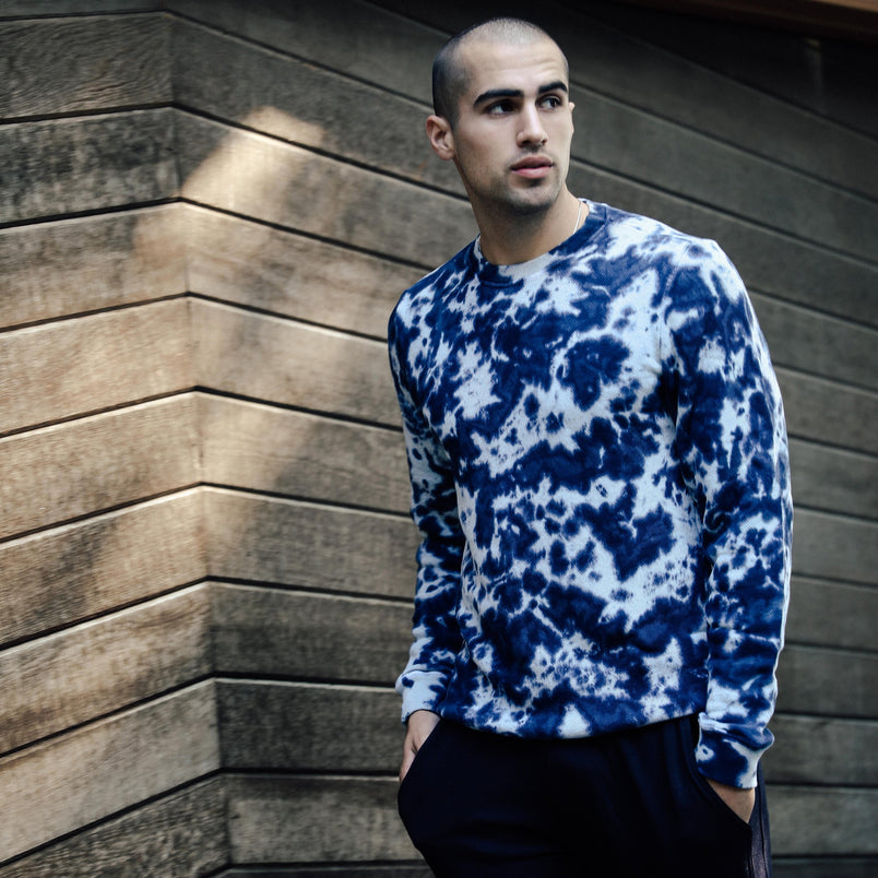 Crewneck Sweatshirt in Royal Camo - Mitchell Evan