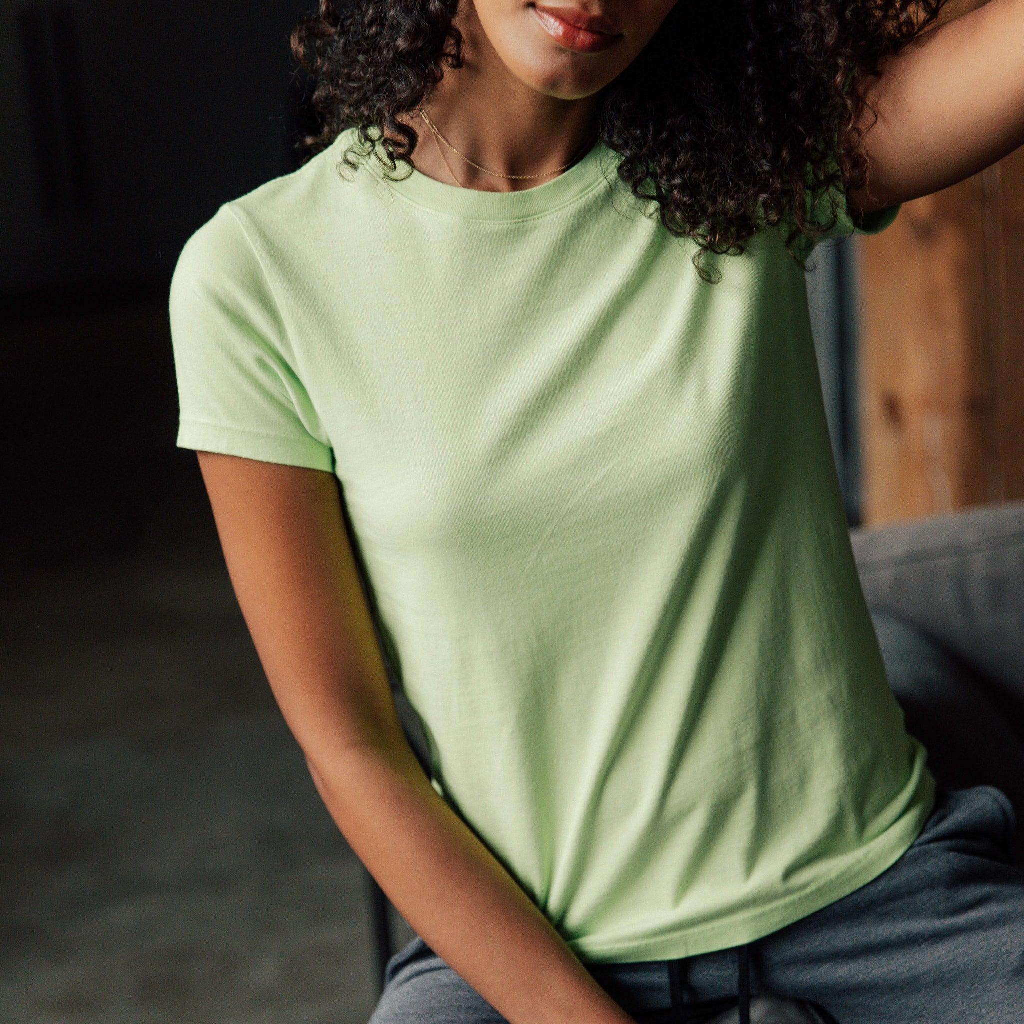 Mochi Tee in Lime