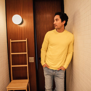 Axel Crewneck Sweatshirt in Aspen Yellow - Mitchell Evan