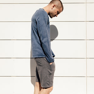 Ledger Henley in Navy - Mitchell Evan