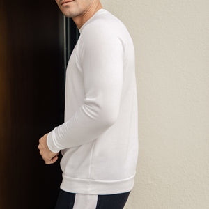 Axel Crewneck Sweatshirt in Optic White