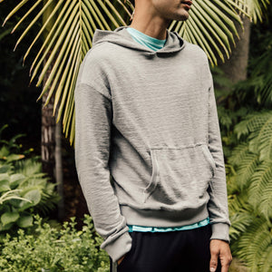 Baja Drop Shoulder Hoodie in Grey - Mitchell Evan