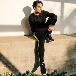 Steel Panel Joggers in Black-Lime Aurora - Mitchell Evan