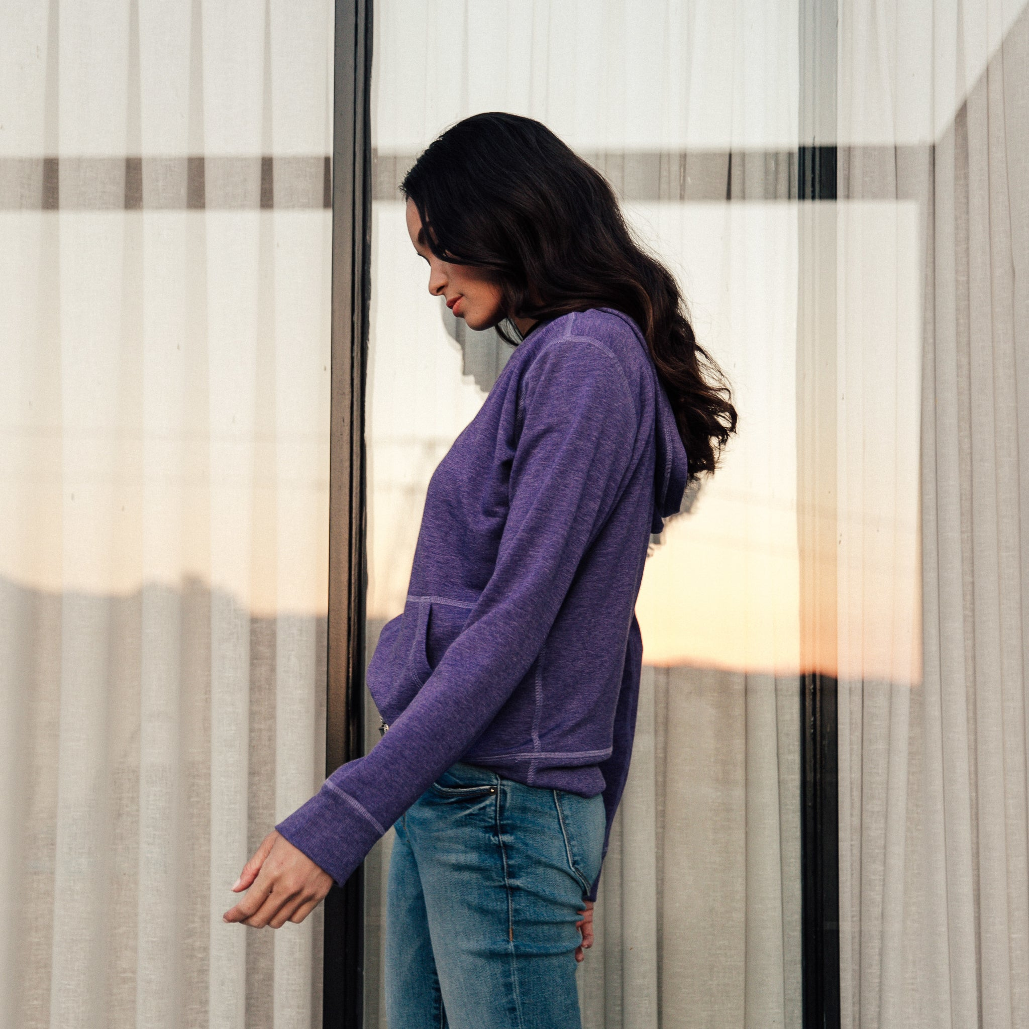 Nara Pullover Hoodie in Purple Storm - Mitchell Evan