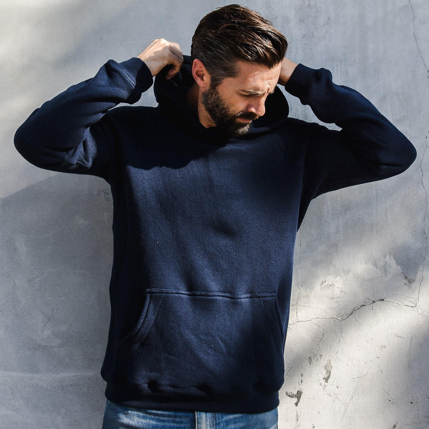 Pullover Hoodie in Navy - Mitchell Evan