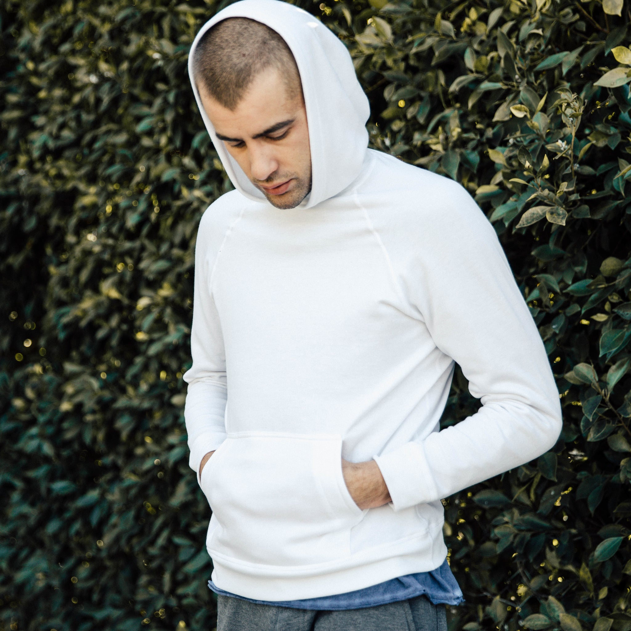 Malibu Hoodie in Optic White - Mitchell Evan