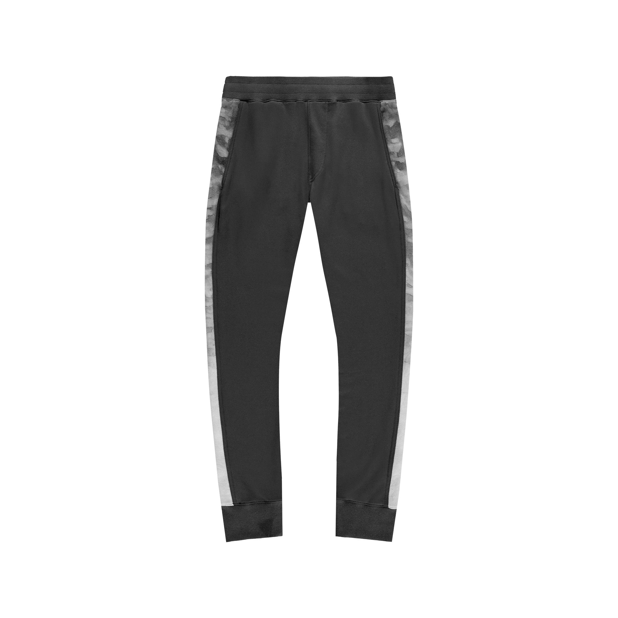 Panel Joggers in Black Marble - Mitchell Evan