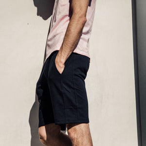 Pacific Knit Shorts in Black - Mitchell Evan
