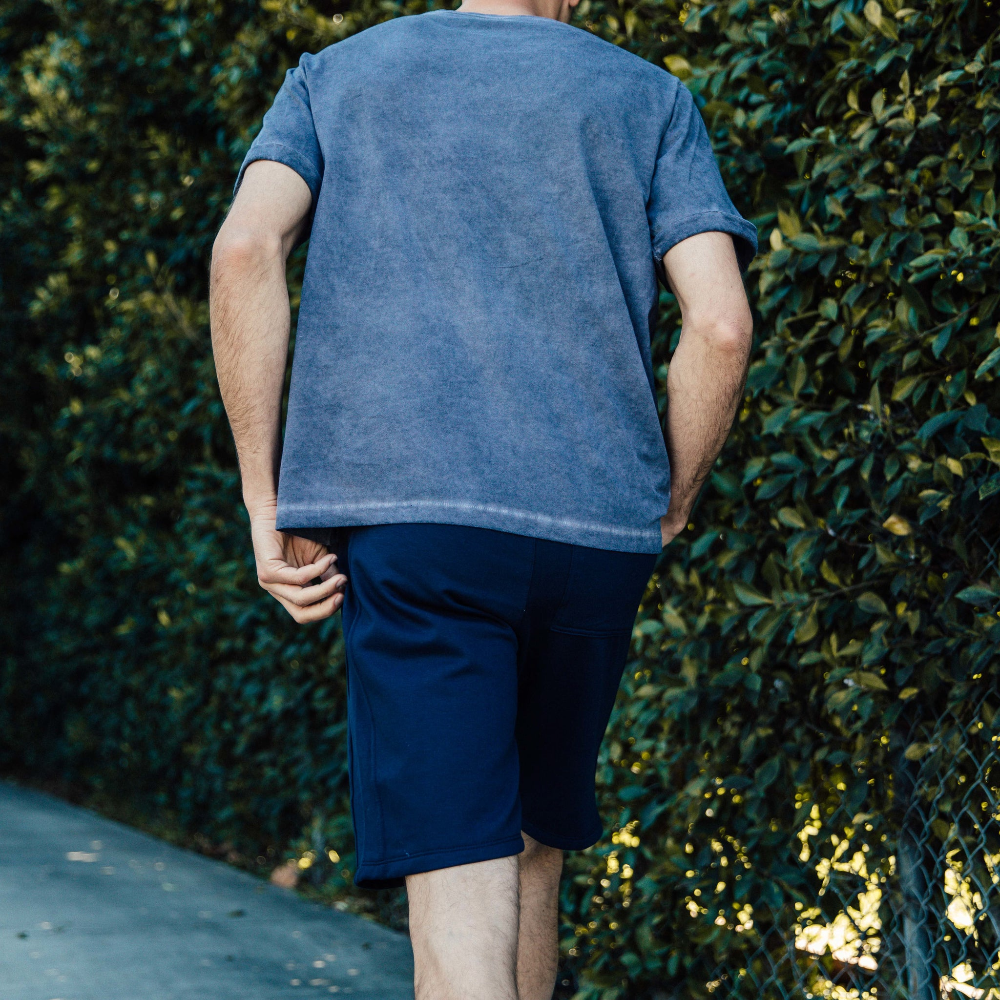 Pacific Knit Shorts in Navy - Mitchell Evan
