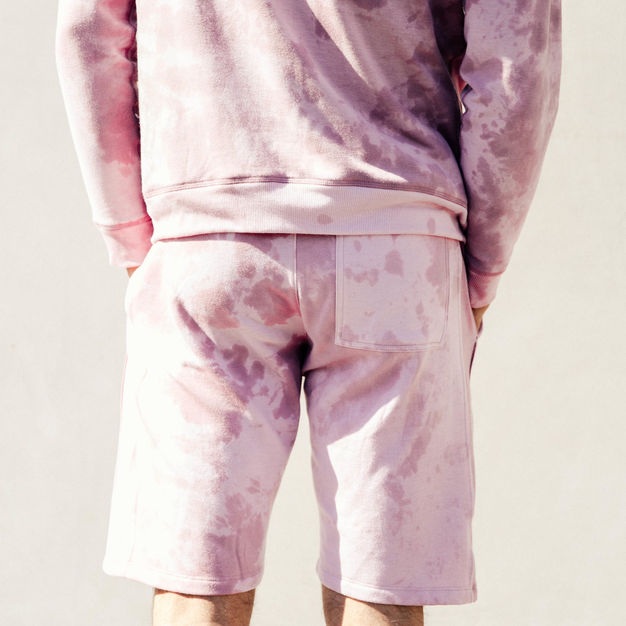 Pacific Knit Shorts in Pink Lava - Mitchell Evan