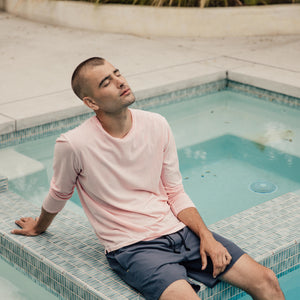 Pebble Long Sleeve Tee in Pink - Mitchell Evan