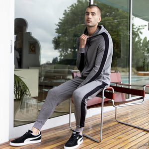 Steel Panel Joggers in Grey-Black - Mitchell Evan