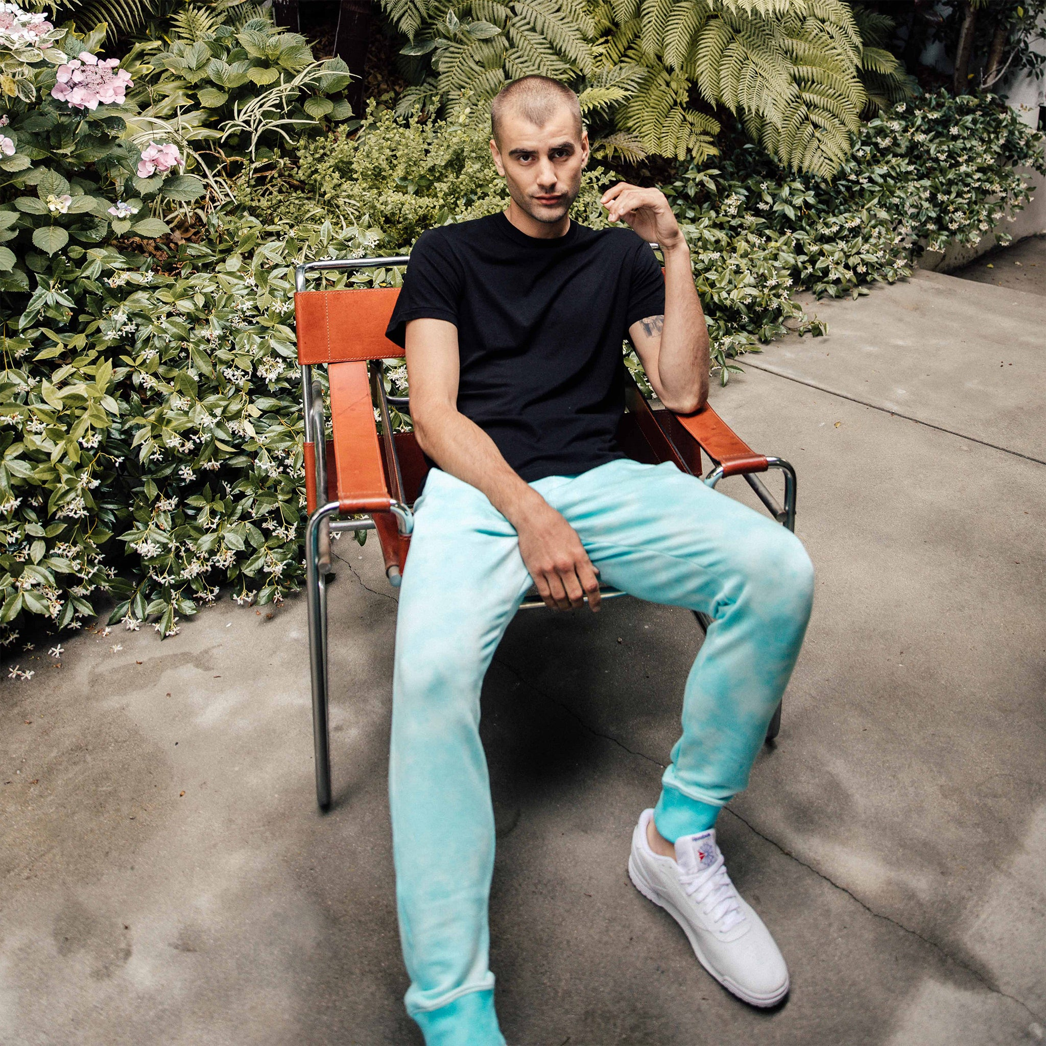 Steel Panel Joggers in Aqua Lava - Mitchell Evan