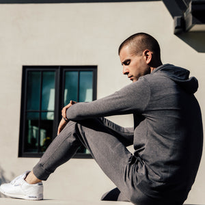 Steel Panel Joggers in Grey - Mitchell Evan