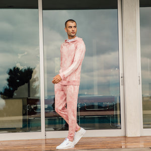 Steel Panel Joggers in Pink Lava - Mitchell Evan