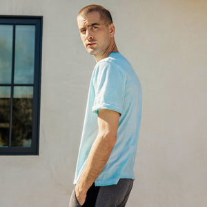 Venice Tee in Aqua - Mitchell Evan