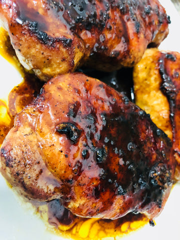 Picture of Cut It Honey Glazed Pork Chops