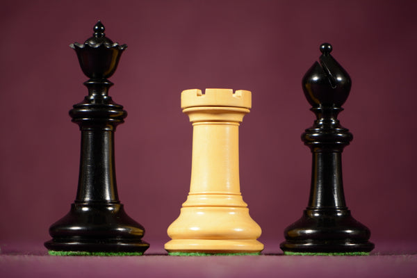 Artistic Staunton Style Chessmen In Ebony Wood