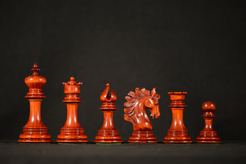 "The Sirena Chessmen - Padauk - 4.4"" King"