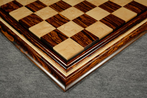 "Cocobolo and Birdseye Maple Chessboard #CB032016-01 - 2 1/2"" (MADE IN USA) - SPECIAL OFFER"