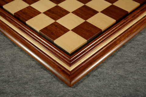 "Bubinga and Birdseye Maple Chessboard #BB032016-01 - 2 1/2"" (MADE IN USA) - SPECIAL OFFER"