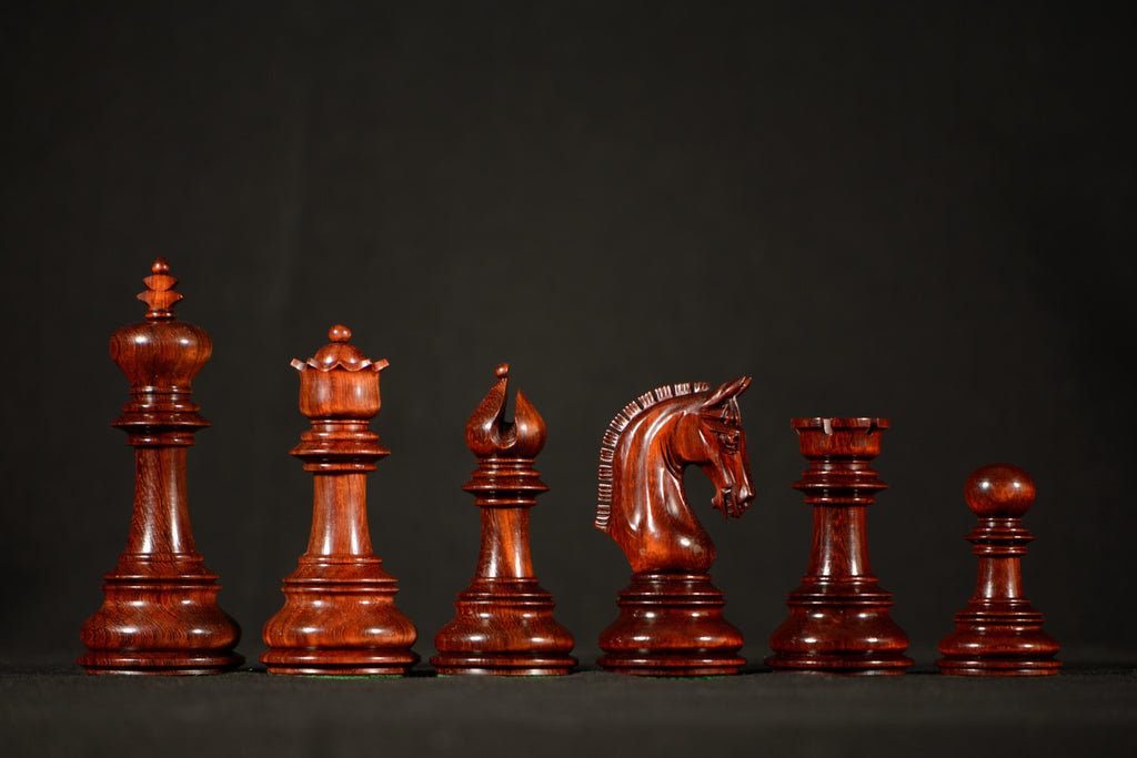 "The Alexandra Chessmen - Padauk - 4.4"" King"