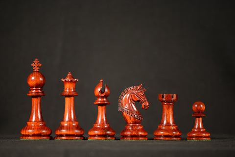 "The Tuscan Chessmen - Padauk - 4.4"" King"