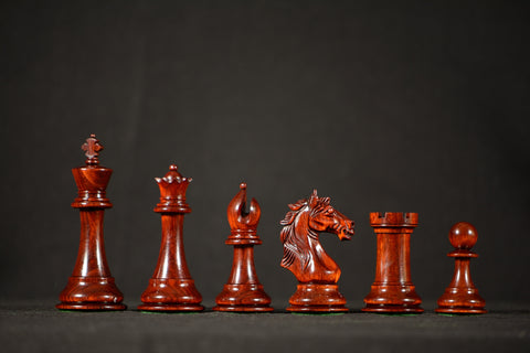 "The Lombard Chessmen - Padauk - 4.0"" King"