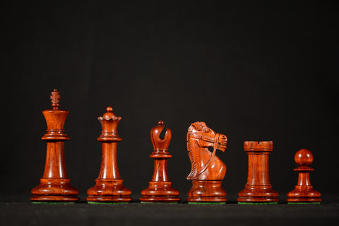 "The Cavalier Chessmen - Padauk - 4.0"" King - SPECIAL OFFER"