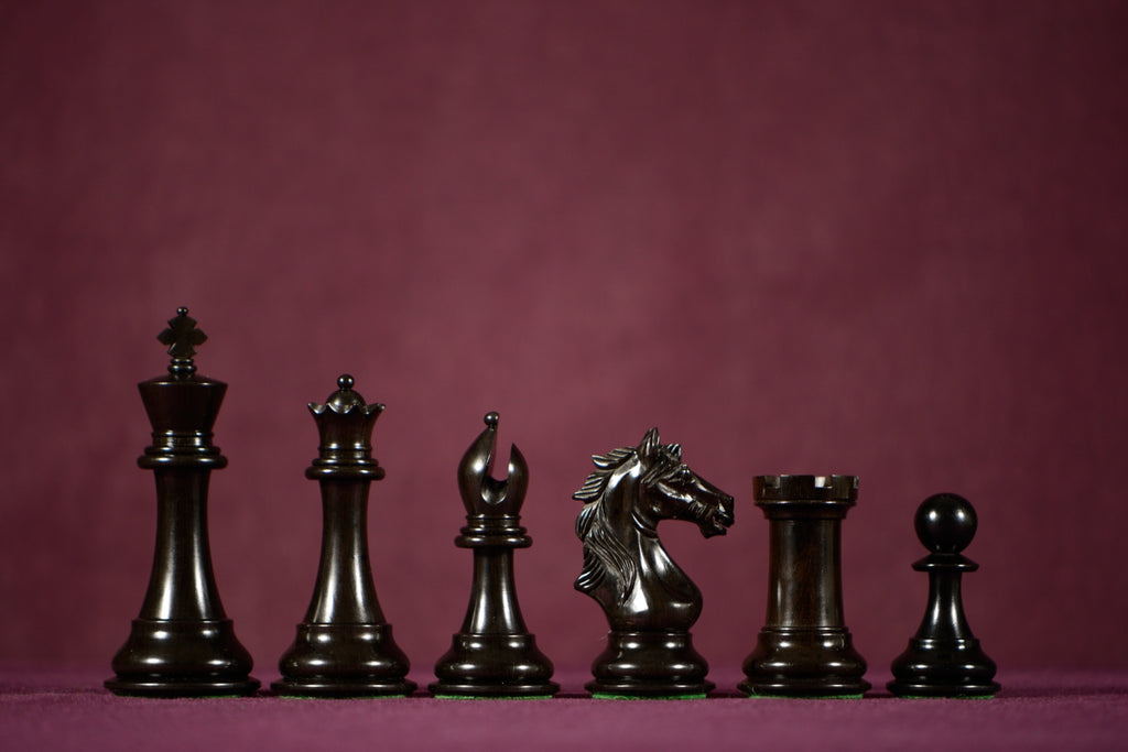 "The Lombard Chessmen - Ebony - 4.0"" King"
