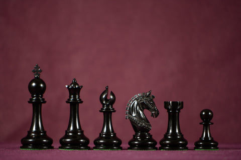 "The Tuscan Chessmen - Ebony - 4.4"" King"