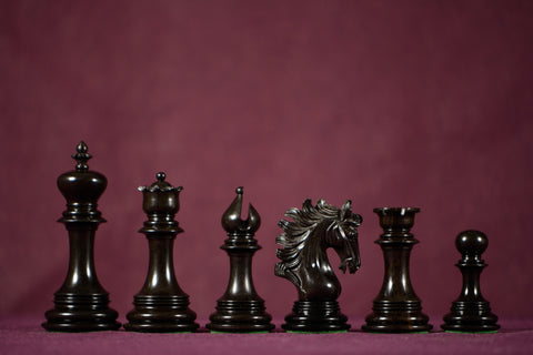 "The Sirena Chessmen - Ebony - 4.4"" King"