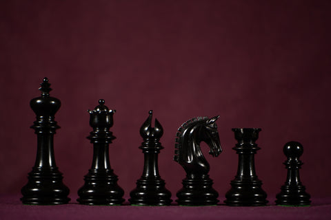 "The Alexandra Chessmen - Ebony - 4.4"" King"