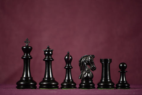 "The Padishah Chessmen - Ebony - 4.0"" King"