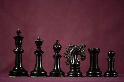 "The Sovereign Chessmen - Ebony - 4.4"" King"