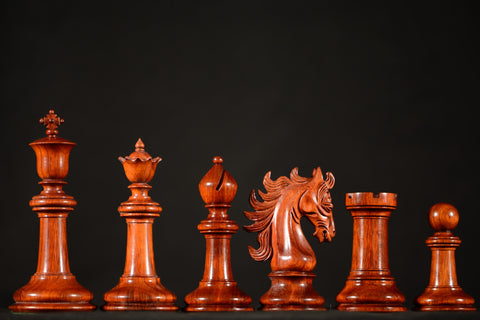 "The Sovereign Chessmen - Padauk - 4.4"" King - SPECIAL OFFER"