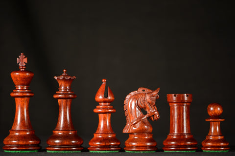 "The Cavalier Gallant Chessmen - Padauk - 4.25"" King"