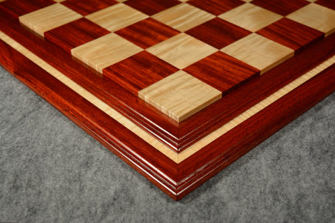 "Padauk and Curly Maple Tradition II Chessboard #PCM03092017-NM-03 - 2 1/2"" (MADE IN USA)"